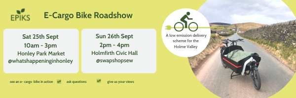 E-Cargo Bike Roadshow Visits Holme Valley for The Great Big Green Week